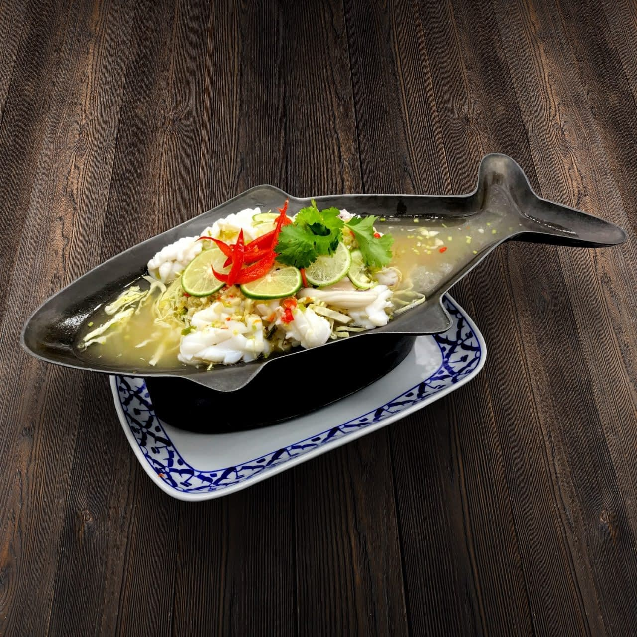 Thai Food Delivery Kuala Lumpur Lime _ Chilies Steamed Squid