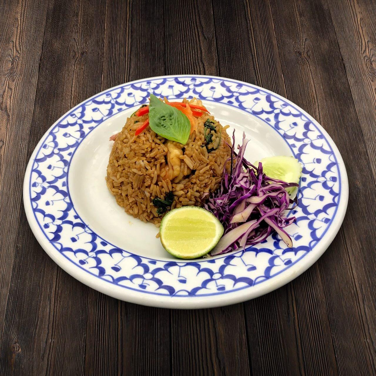 Thai Food Delivery Kuala Lumpur Basil Leaf Fried Rice with Shrimp