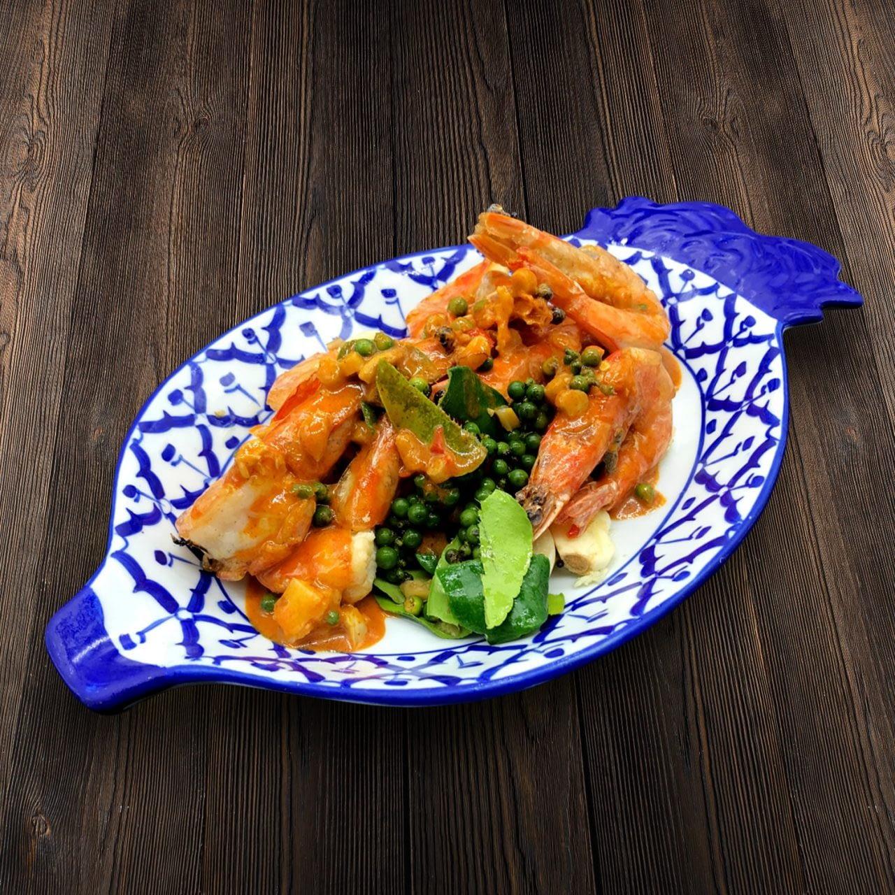 Thai Food Delivery Kuala Lumpur Stir Fried Prawn with Phrik Thai-min