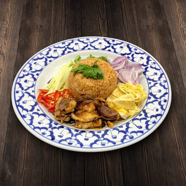 Thai Food Delivery Kuala Lumpur Baan Rainbow Fried Rice with Thai Condiments