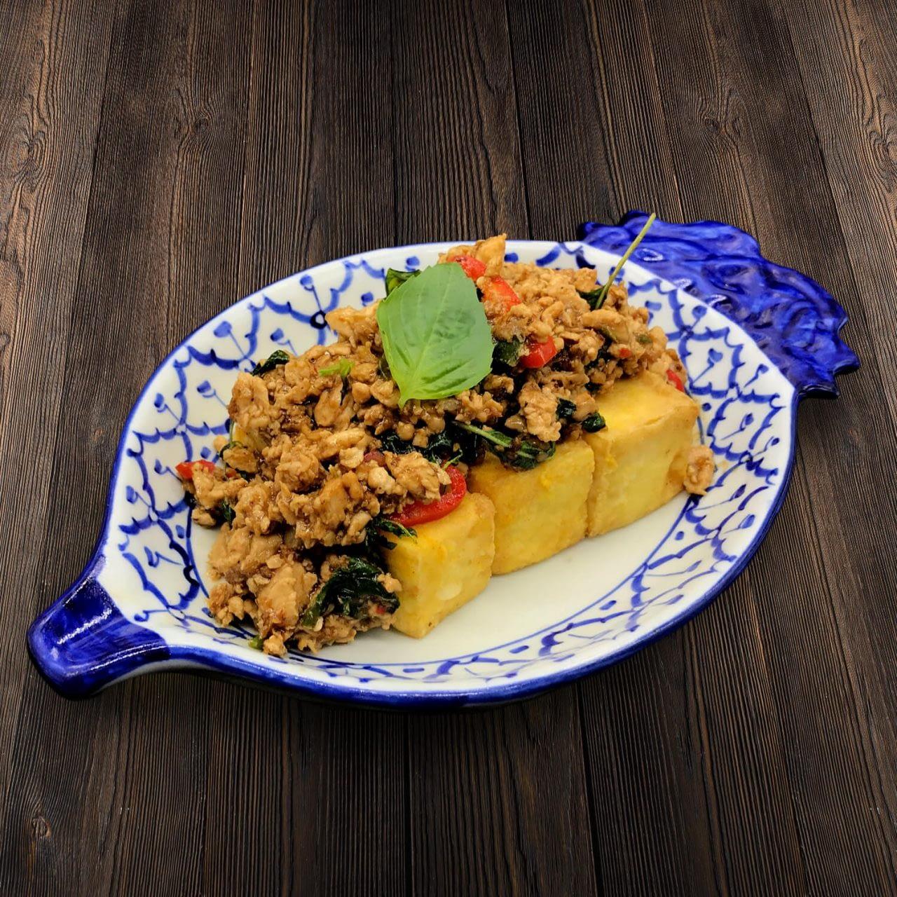 Thai Food Delivery Kuala Lumpur Thai Basil Leaf Minced Chicken Beancurd