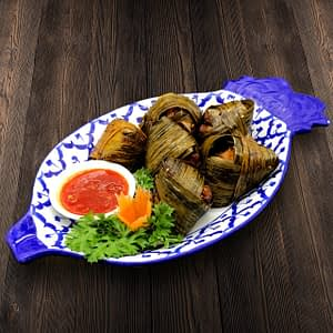 Thai Food Delivery Kuala Lumpur Pandan Leaf Chicken Wrap-min