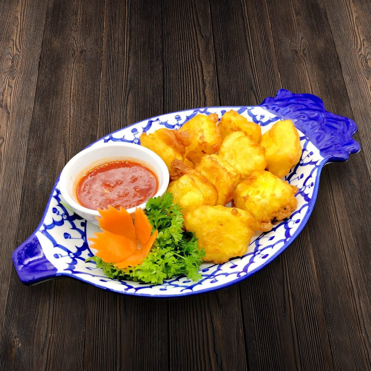 Thai Food Delivery Kuala Lumpur Crispy Beancurd in Thai Dip